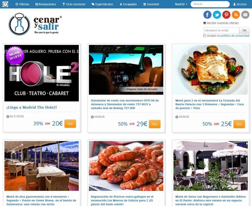 nueva web cenarysalir